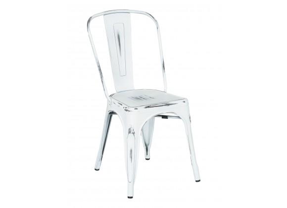 Industrial Chair In Whitewash