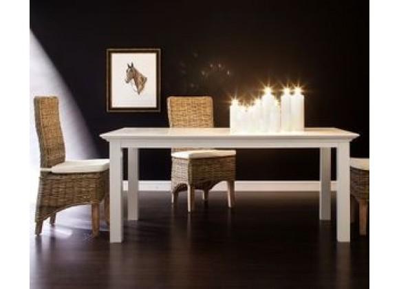 Nova Solo HALIFAX White Mahogany Dining Table