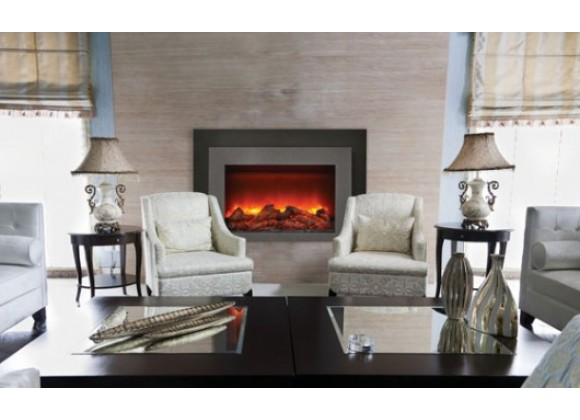 "Sierra Flame 30"" Insert Insert with Dual Steel Surround - Lifestyle"