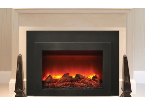 "Sierra Flame 34"" Insert Insert with Dual Steel Surround - Lifestyle"
