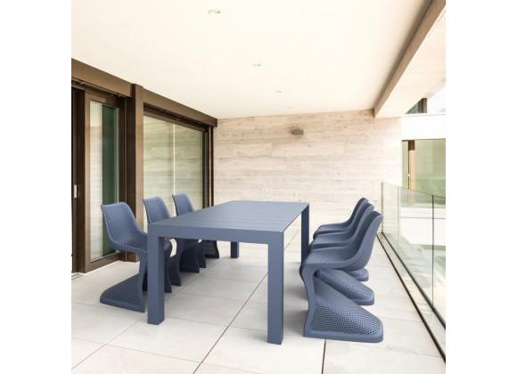 Compamia Bloom Extendable 7-Piece Patio Dining Set - Dark Gray