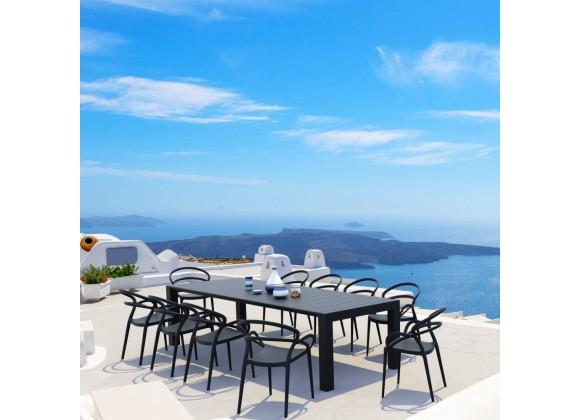 Compamia Mila Extendable 11-Piece Outdoor Dining Set - Black