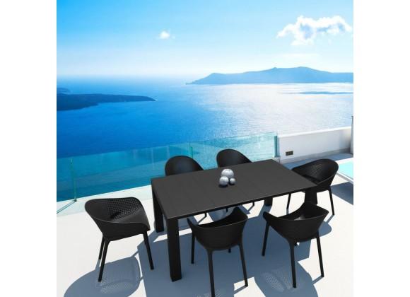 Compamia Sky 7-Piece Extendable Dining Set - Black