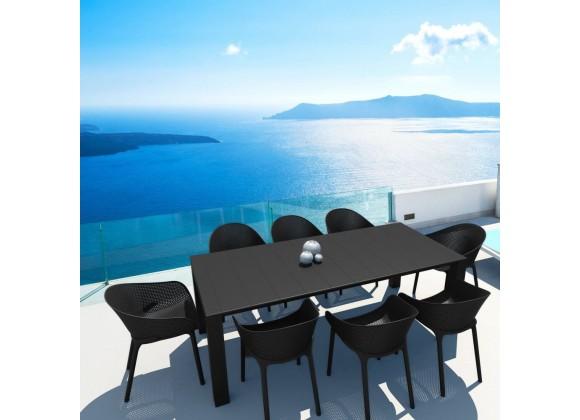 Compamia Sky 9-Piece Extendable Dining Set - Black