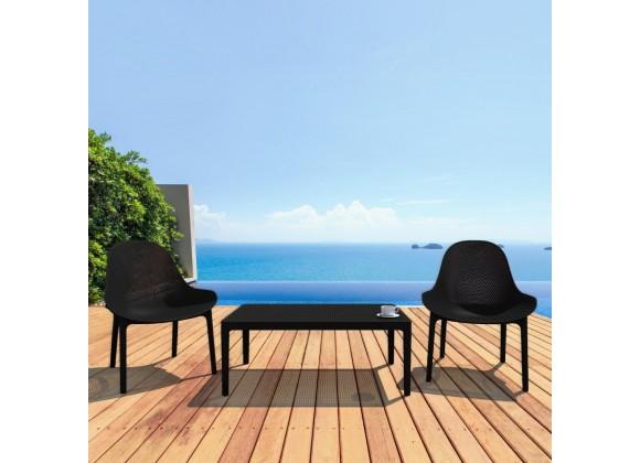 Compamia Sky 3-Piece Lounge Set - BLACK