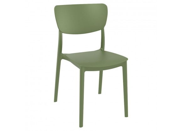 Monna Outdoor Dining Chair Olive Green - Angled