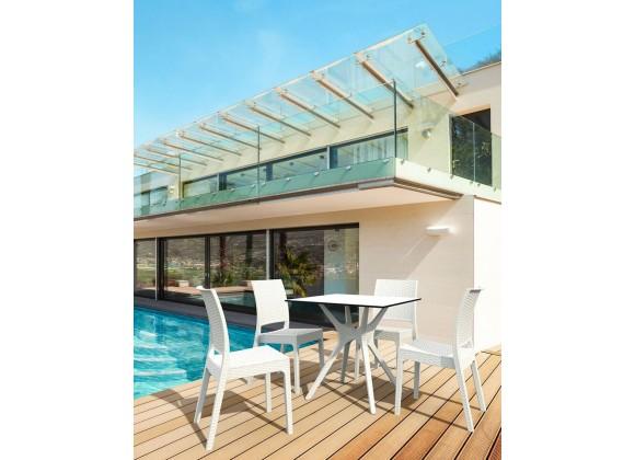 Ibiza Square Table 31 inch White
