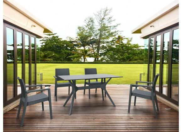 Ibiza Rectangle Table 55 inch Dark Gray