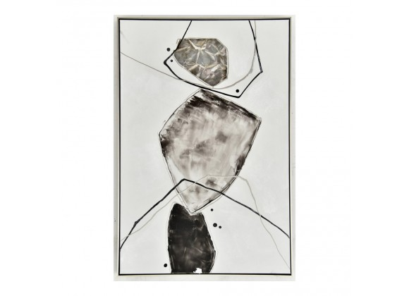 Moe's Home Collection Gold Stone Abstract II Wall Art