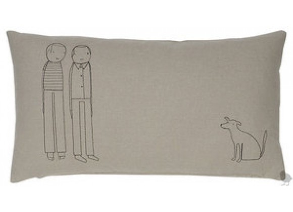 k studio Men Plus Dog Pillow - Thyme with Black Stitch