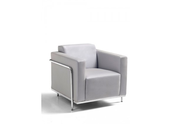 oodstock Marketing Keefe Lounge Chair - Silver - Angled