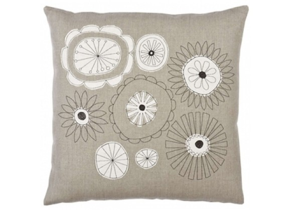 k studio Flowers Hemp Pillow - 18x18
