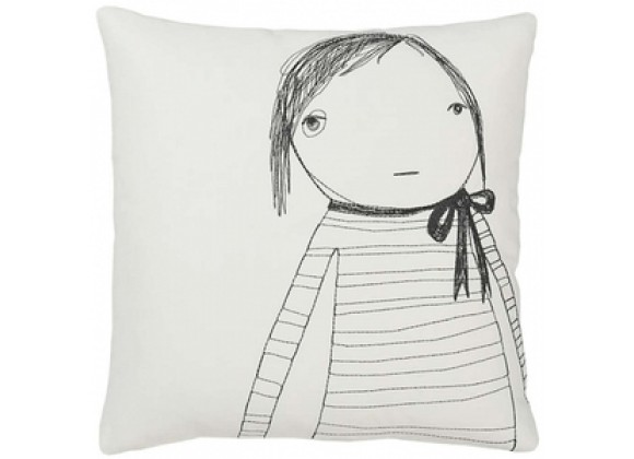k studio Strange Portrait Series - Girl with Bow Pillow