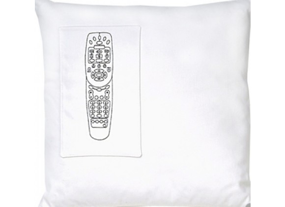 k studio Remote Control Pocket Pillow - White