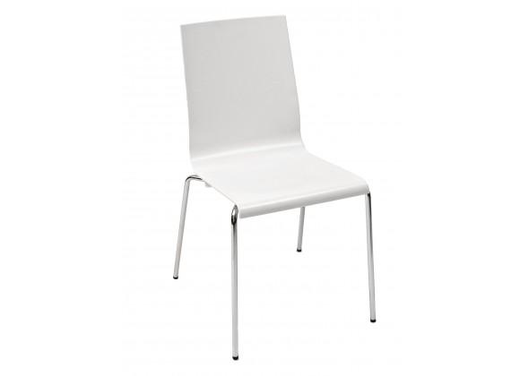 Technopolymer With Chromed Steel Tube Frame Chair - KUADRA-S