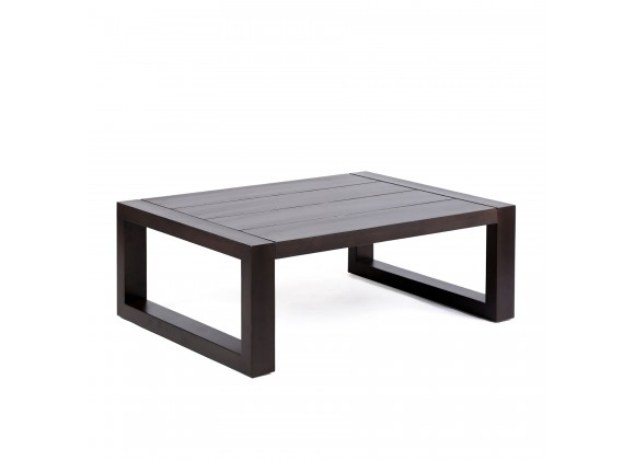 Paradise Outdoor Patio Solid Eucalyptus Wood Coffee with Dark Finish