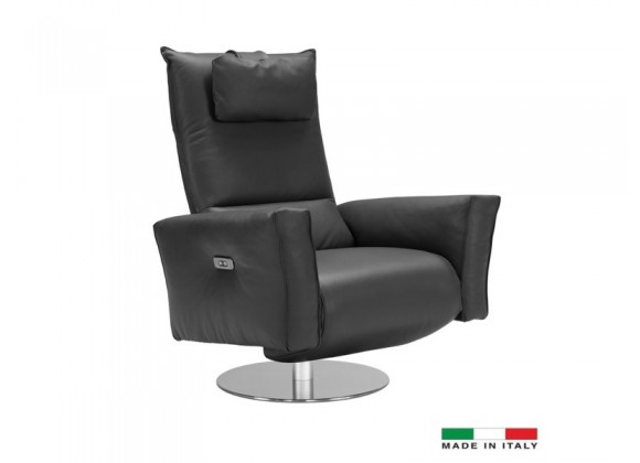 Bellini Modern Living Liliana Recliner Chair - Anthracite