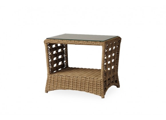 "Magnolia 24.75"" Rectangular End Table in Sandcastle - Angled"