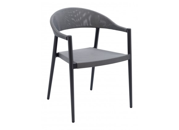 Powder Coated Aluminum Frame Arm Chair W/ Textilene Seat And Back - TEX-01 A