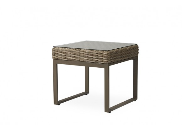 """Milan 24.5"""" Square End Table in Brushwood - Angled"""