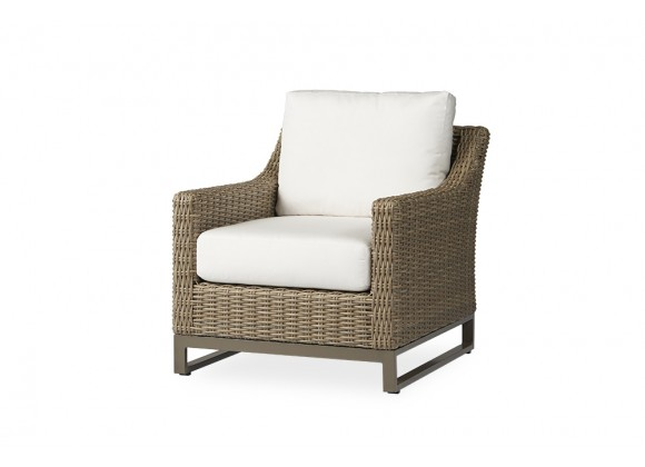 Milan Lounge Chair in Brushwood - Angled