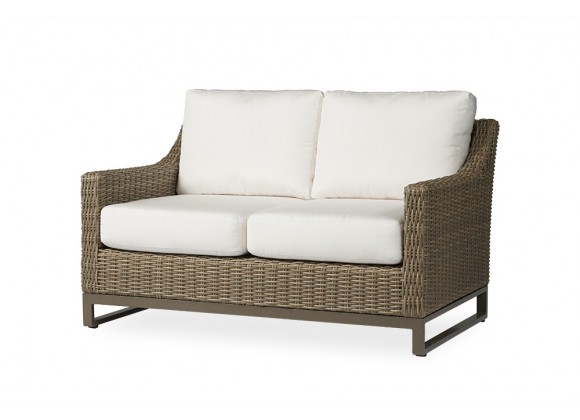 Milan Loveseat in Brushwood - Angled