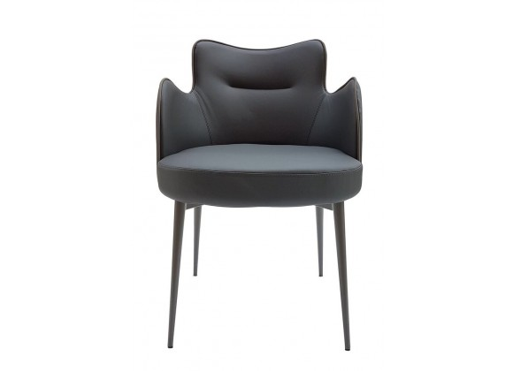 Minnie Armchair In Dove Grey - Front