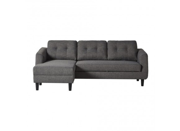 Moe's Home Collection Belagio Sofa Bed - Charcoal - Left Facing