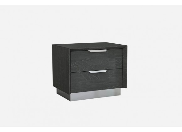 Navi Night Stand High Gloss Grey