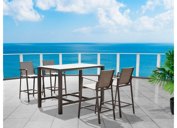 Whiteline Modern Living Vargas Outdoor Bar Table
