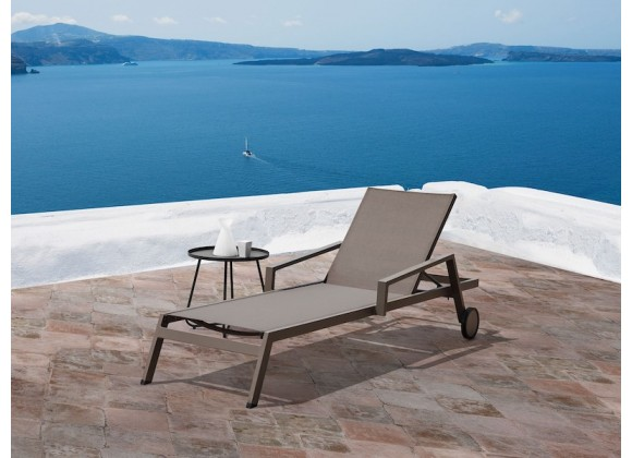Whiteline Modern Living Bondi Outdoor Chaise - Set of 2 - Taupe