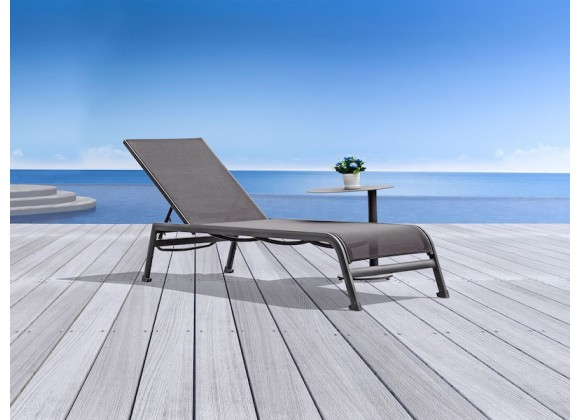 Whiteline Modern Living Sunset Outdoor Chaise - Set of 2 - Taupe
