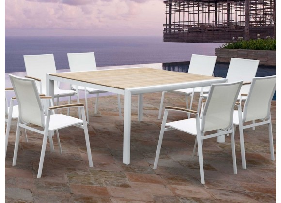 Whiteline Modern Living Cannes Indoor / Outdoor Dining Armchair - Set of 4