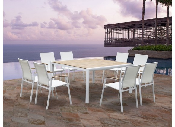 Whiteline Modern Living Cannes Indoor / Outdoor Dining Table