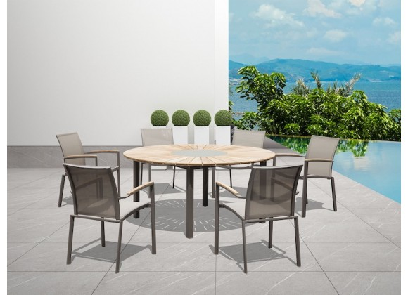 Whiteline Modern Living Sanctuary Indoor / Outdoor Dining Table