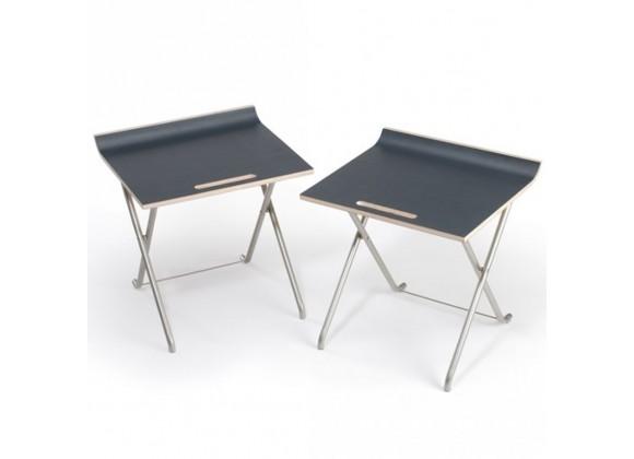 Paket folding chair Set of 2 - Charcoal Gray