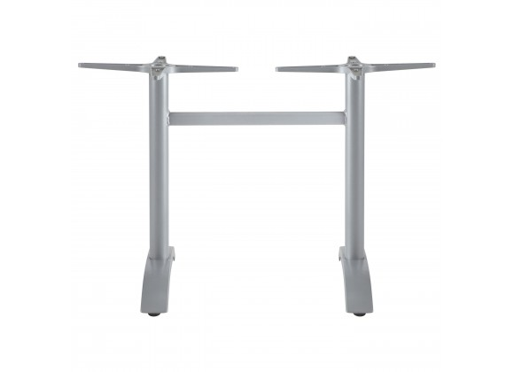 Palm 2 Aluminum Dining Base - Silver