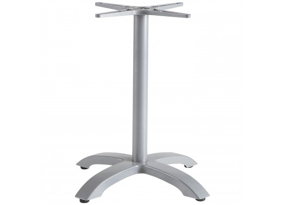 Palm 4 Aluminum Dining Base - Silver