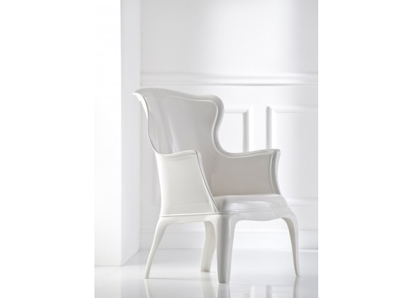 Molded Polycarbonate Mold Side Chair - PASHA – WHITE - Lifestyle