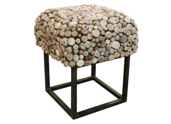 Bellini Modern Living Pebble Square End Table