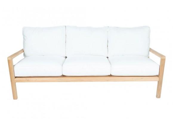 Royal Teak Coastal Wooden Sofa 3-Seater - Royal Teak Coastal Wooden Sofa 3-Seater - White