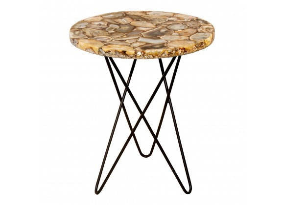 Natura Agate Accent Table - Front