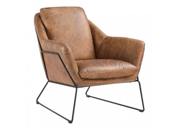 Moe's Home Collection Greer Club Chair - Cappuccino - Perspective
