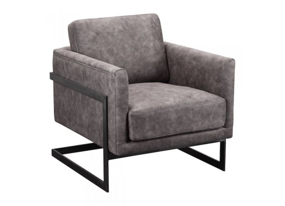 Moe's Home Collection Luxe Club Chair - Grey Velvet - Perspective