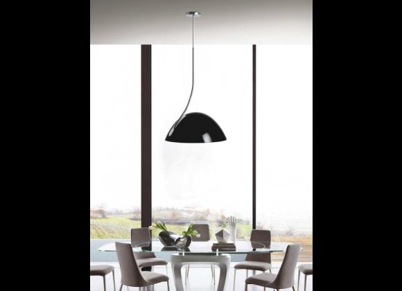 Bryce Pendant Lamp Black Aluminum - Lifestyle