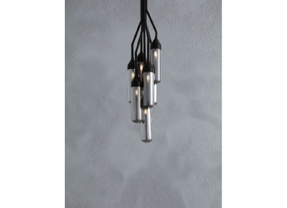 Darsie Pendant Lamp Black Carbon Steel And Glass - Lifestyle