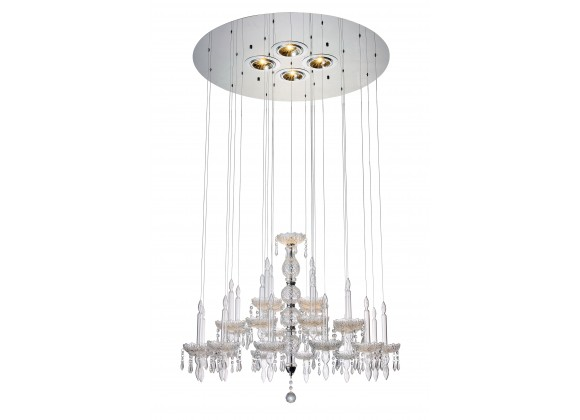 Macy Pendant Lamp Clear Glass And Crystal - Large