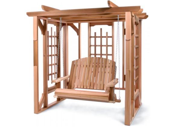 All Things Cedar Cedar Pergola with Swing