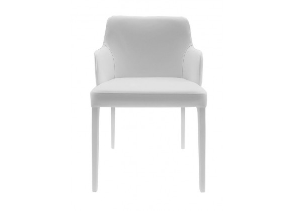 Polly Armchair In White - Front