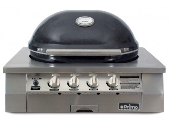 Primo Ceramic Oval Grill Head Only for Built-In Applications -